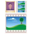 Photo and movie frames vector image vector image