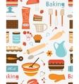 Baking seamless pattern vector image