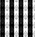 Black and white alternating Fleur-de-lis vertical vector image