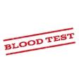 Blood Test Watermark Stamp vector image