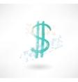Brush dollar icon Business vector image