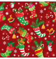 Christmas stockings Seamless pattern for holiday vector image