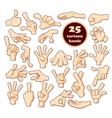 Comics cartoon hands set vector image