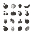 Fruits Black Icons vector image