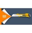 Knife Cut Paper vector image
