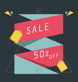 label banners for shopping pink vector image