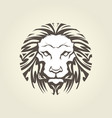 Lion head in tattoo style - muzzle front view vector image