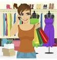woman shopping in store vector image