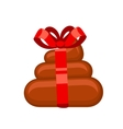 Poo gift flat vector image vector image