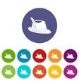Irish hat set icons vector image