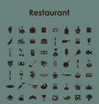 set of restaurant simple icons vector image