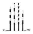 police baton  regulation equipment traffic vector image