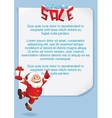 Christmas Background with Funny Santa vector image vector image