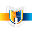 security guard logo design security vector image