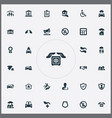 set of simple warrant icons vector image