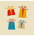 Retro Paper Present Box Gift Box Set vector image vector image
