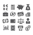 Finance and money icon set vector image
