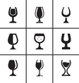 Wineglass icons set vector image vector image