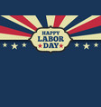 American labor day horizon background vector image
