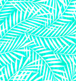 Tropical white and green palm tree leaves seamless vector image vector image