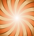 Abstract brown and orange ray twirl background vector image vector image