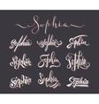 Personal name Sophia vector image