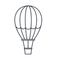 balloon air hot isolated icon design vector image