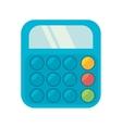 blue calculator class supplie school vector image