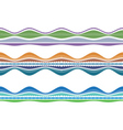 Color border vector image