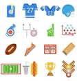 Colored icons collection for American football vector image