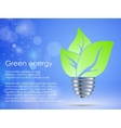 concept of clean green energy vector image