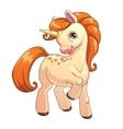 Cute cartoon standing unicorn vector image