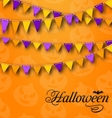 Decoration with Colorful Bunting Pennants for vector image