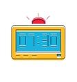 Electronic Alarm Clock Icon line style vector image