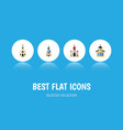 flat icon christian set of church catholic vector image