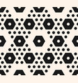 Geometric seamless pattern hexagons texture vector image