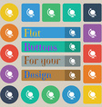 Icon world sign Set of twenty colored flat round vector image