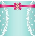 Lace borders with bow vector image