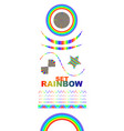 rainbows in different shape realistic set on white vector image