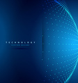 technology background with sphere dots vector image
