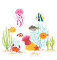 Underwater world design vector image