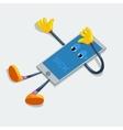 Sick phone Broken cartoon vector image