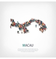 people map country Macau vector image