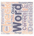 How to Choose Exactly the RIGHT Foreign Word text vector image