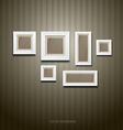 White frame on wallpaper background vector image