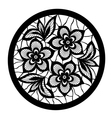 floral design element Flowers with imitation lace vector image