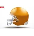 Realistic American football helmet Side view vector image