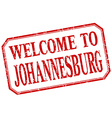 Johannesburg - welcome red vintage isolated label vector image