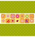 Abstract spring time flower vector image