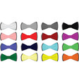 colorful tie set vector image